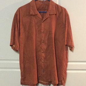 Tommy Bahama 100% Silk Button Down